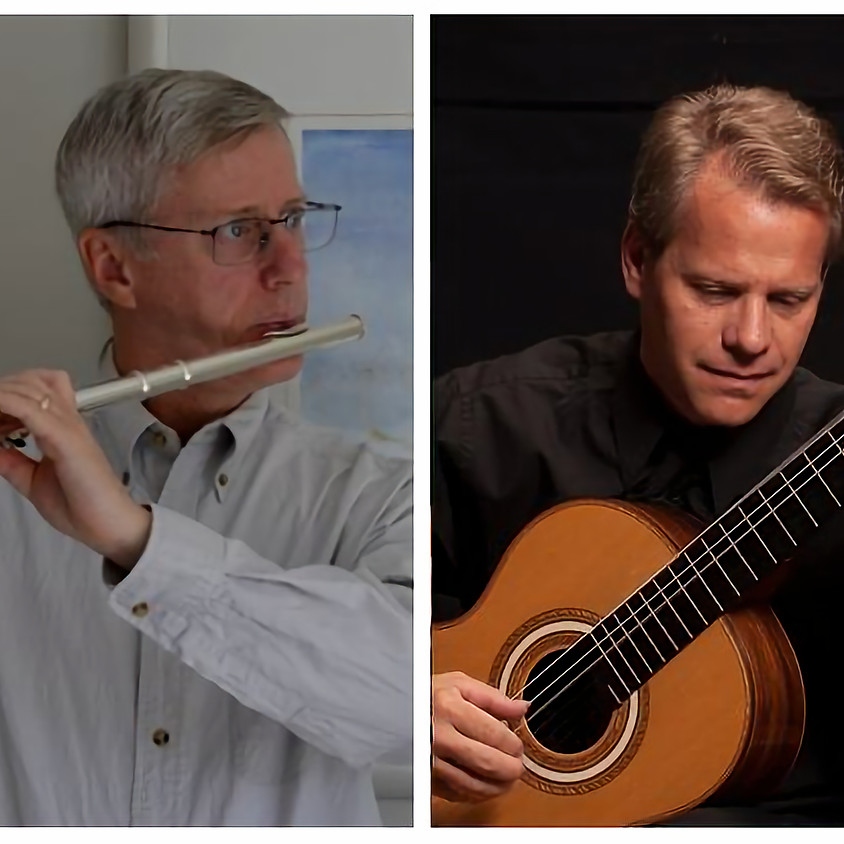 Carl Gutowski and David Temple perform works for flute and guitar