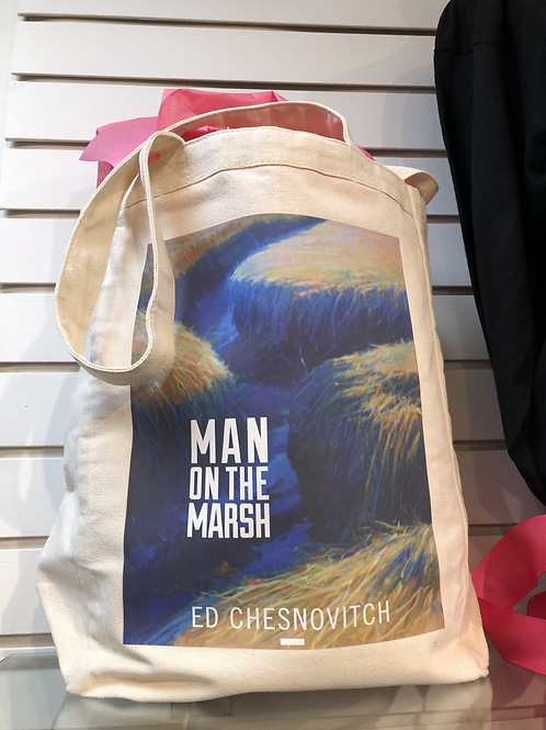 MAN ON THE MARSH CANVAS TOTE BAG
