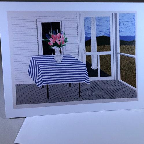"Judith Shahn, ""Striped Tablecloth"""