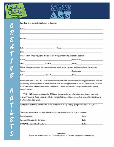 Creative Outlets Teen Application Final-