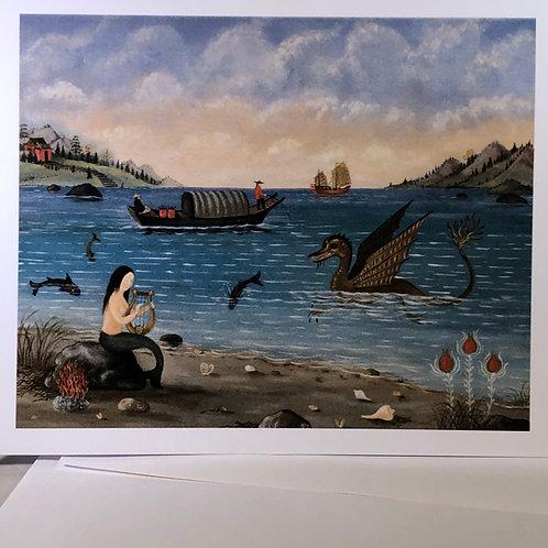"Martha Cahoon,""Mermaid and Sea Serpent"""