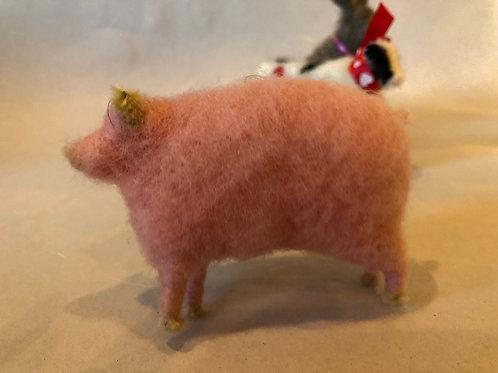 Hand Felted Piggy