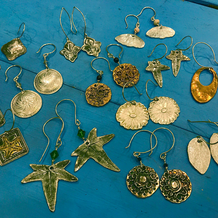 Natural Elements in Silver Metal Clay with Kim Rumberger