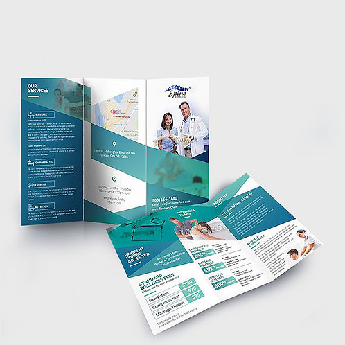 Folded Brochure - 8.5x14 100lb
