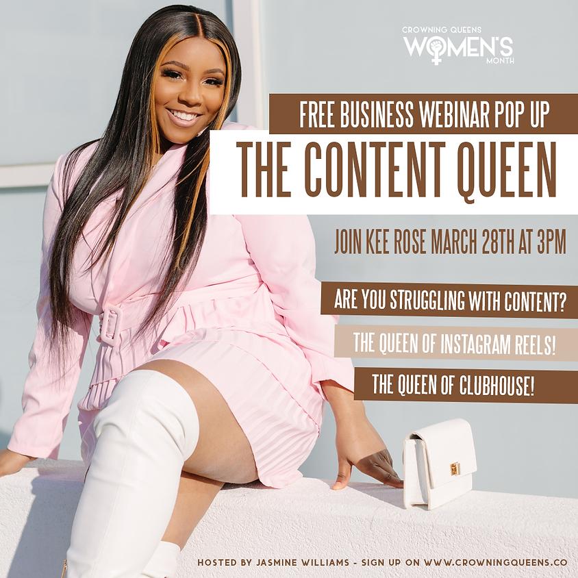 FREE BUSINESS WEBINAR: The Content Queen