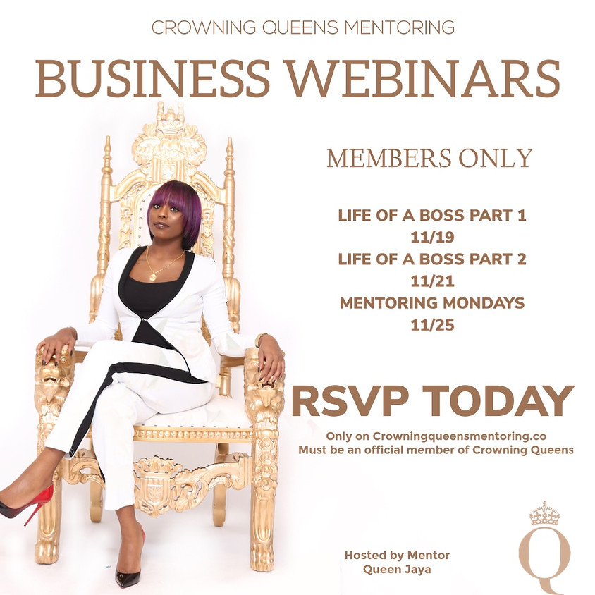 Life as a boss webinar discussion: MEMBERS ONLY