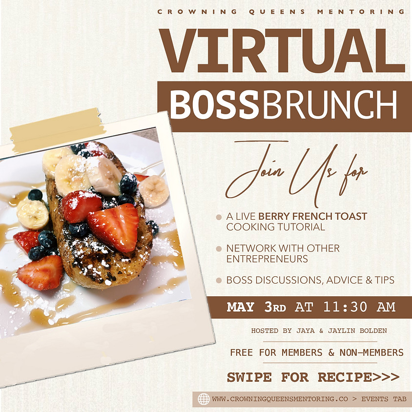 Virtual Boss Brunch Webinar