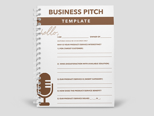Business Pitch Template PDF