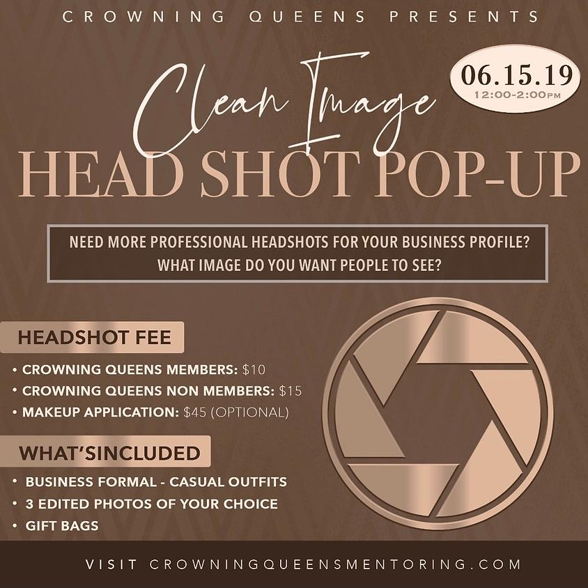 Clean Image: Head Shot Pop Up