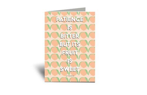 Bitter Then Sweet Fertility 5x7 Greeting Card