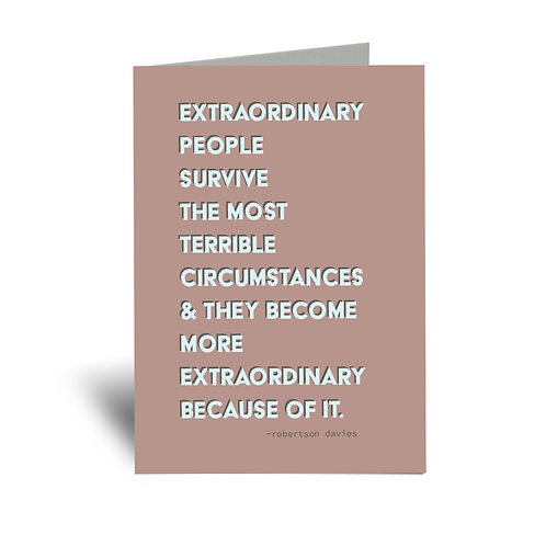 Extraordinary People 5x7 Greeting Card