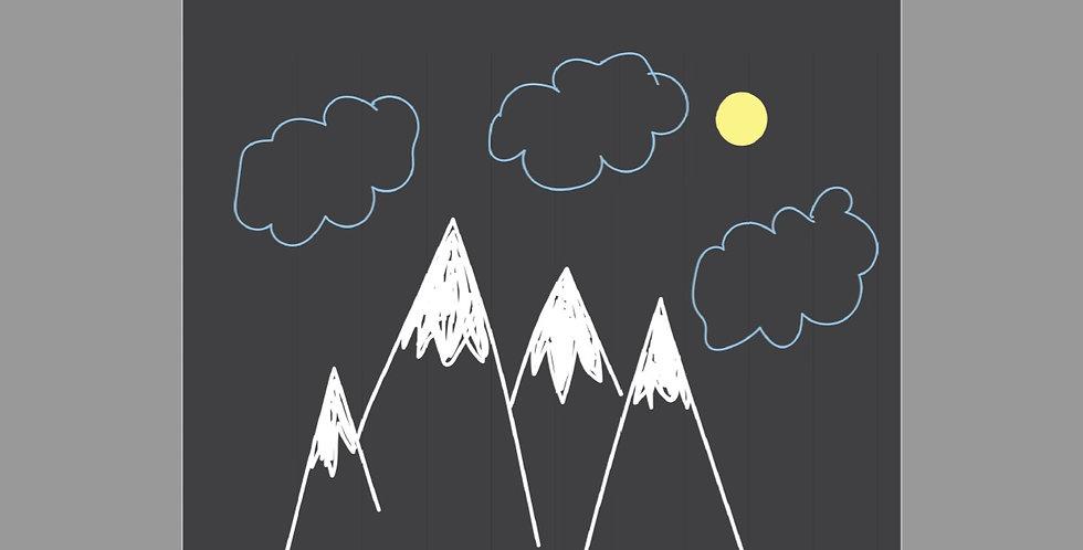 Climb Every Mountain (Winter) Postcard & Print
