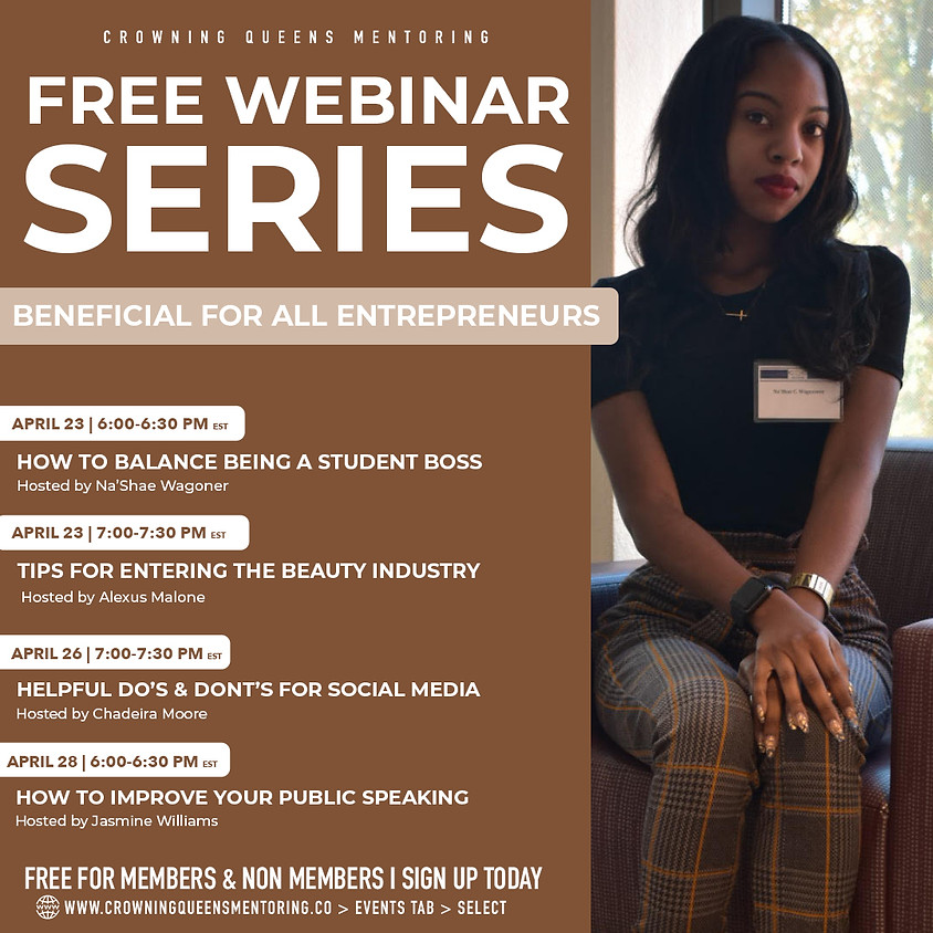 FREE Webinar Series: How to balance being a Student Boss