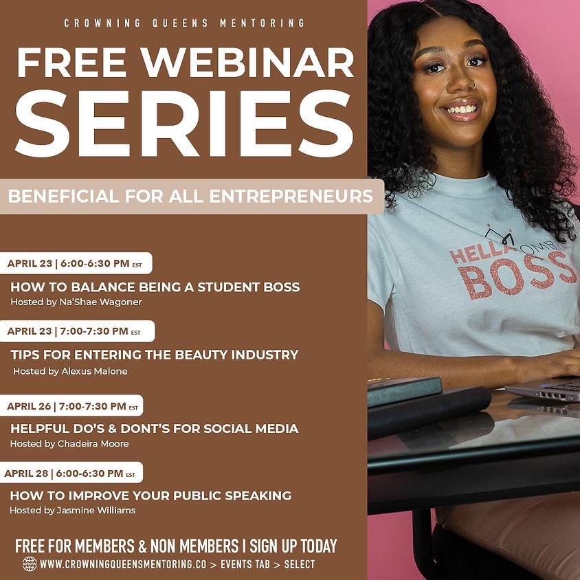 FREE Webinar Series: Social Media Marketing Tips
