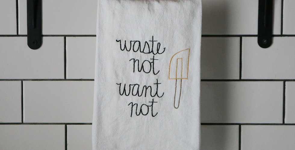 Waste Not Want Not Tea Towel