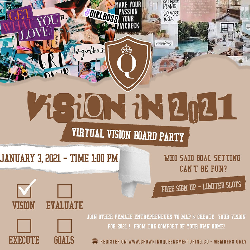 Vision in 2021: Virtual Vision Board Party (Members Only)