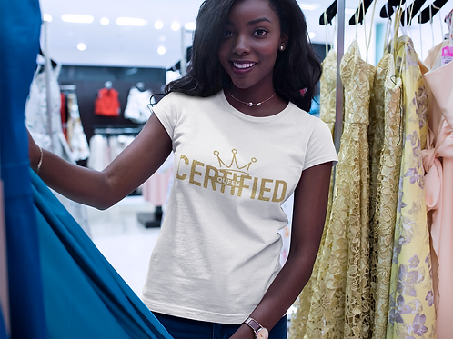 Certified Queen Tee Gold