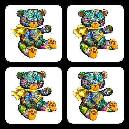 Quilted Bear Coaster Set of 4