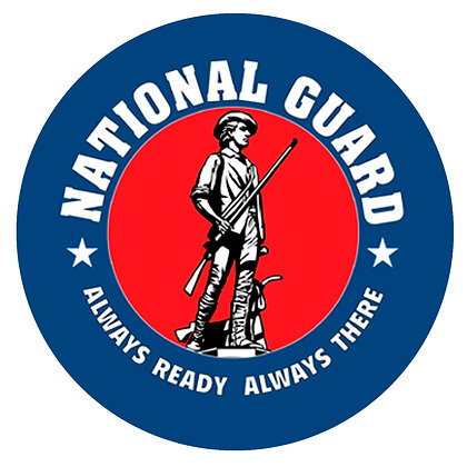 "US National Guard 8"" Emblem on Cotton Fabric"