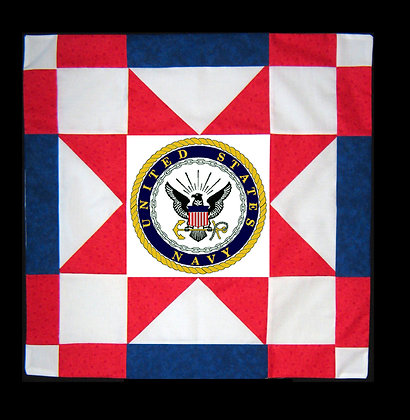 US Navy Star Banner Kit Includes Emblem, Fabric and Pattern