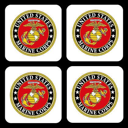 US Marine Corps Coaster Set of 4