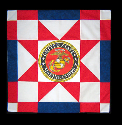US Marine Corps Star Banner Kit Includes Emblem, Fabric and Pattern