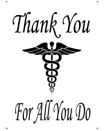 Thank You For All You Do Medical Workers Cotton Panel