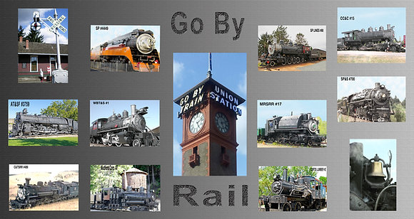 Steam Engine Trains Photo Panel #2
