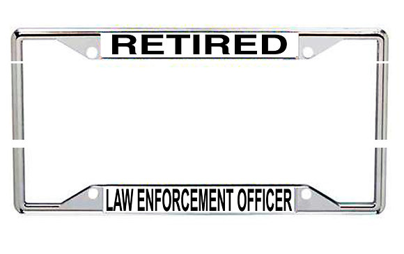 Retired Law Enforcement Every State License Frame