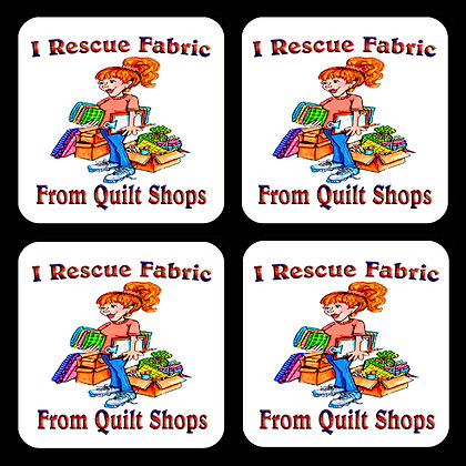 I Rescue Fabric Coaster Set of 4