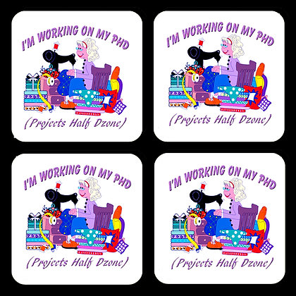 PHD Projects Half Done Coaster Set of 4