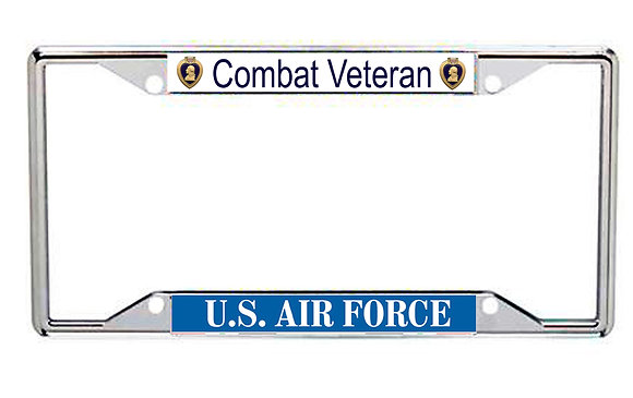 US Air Force Purple Heart Combat Veteran Every State License Frame