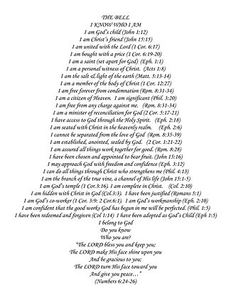 "The Bell Various Bible Verses 8x10"" Cotton Fabric"