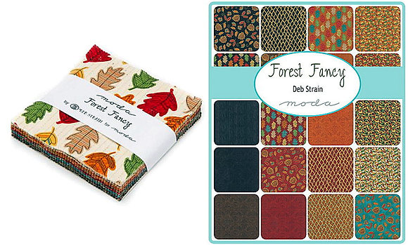 Forest Fancy Charm Pack by Moda Cotton Squares