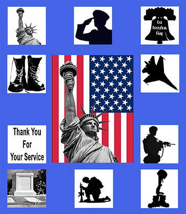 Thank You For Your Service Banner Silhouette Kit
