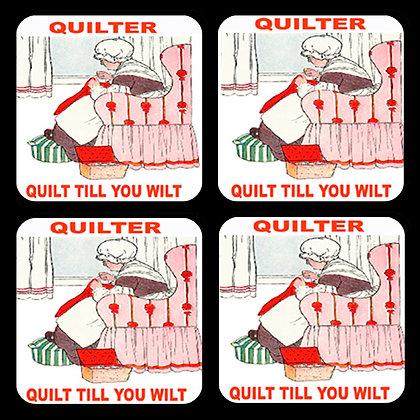Quilt Till You Wilt Coaster Set of 4