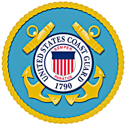 "US Coast Guard Cotton  8x8"" Quilting Fabric"