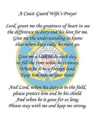 A Coast Guard Wife's Prayer on Cotton Fabric