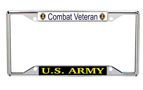 US Army Combat Veteran Purple Heart Every State License Frame