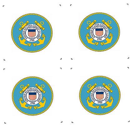 "US Coast Guard 4"" Emblems Pack of 4"
