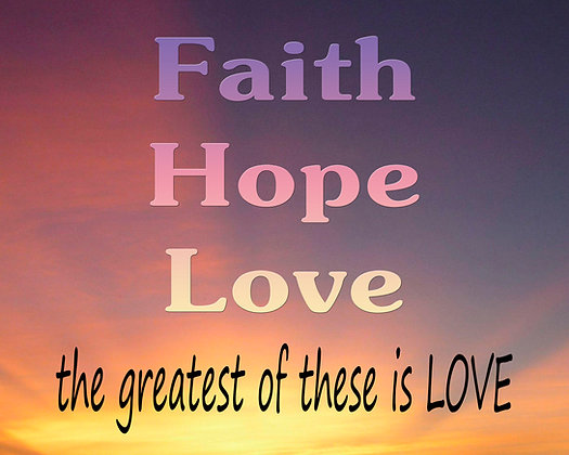 Faith, Love and Hope + The Greatest of These is Love Cotton Block