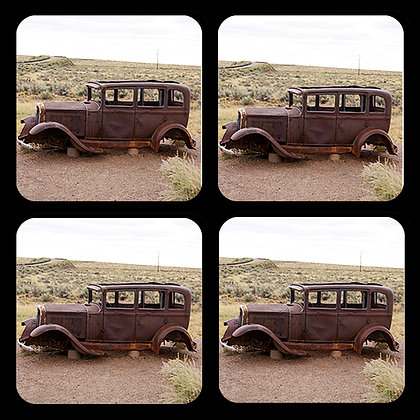 Abandoned Classic Car Coasters Set of 4
