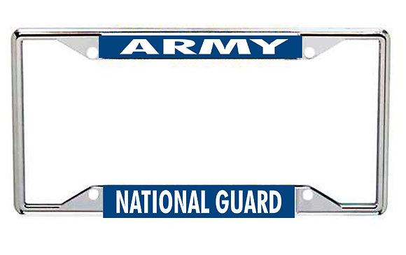 Army National Guard Every State License Frame