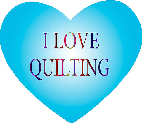 I Love Quilting Heart Mousepad