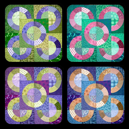 Quilt Blocks #1 Coaster Set of 4