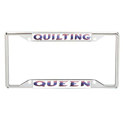 Quilting Queen Every State License Frame