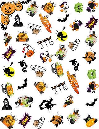 "Halloween Mask Fabric 13x17"" Cotton Fabric"