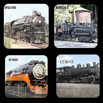 Steam Engines Coaster Set of 4