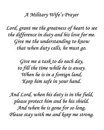 A Military Wife's Prayer