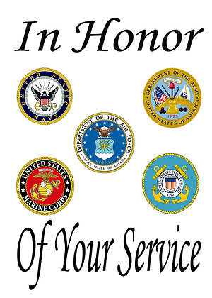 5 Branch Thank You For Your Service Banner